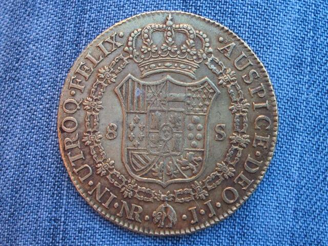 8 Escudos 1802 JJ. Carlos IIII . Santa Fe de Nuevo Reino. 1802_4