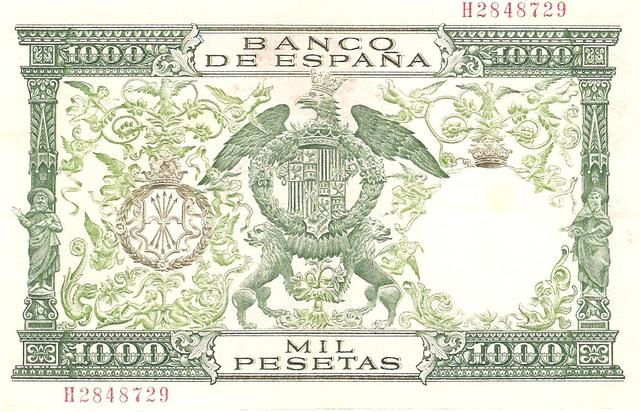 billete de 1000 pesetas de 1959 Image