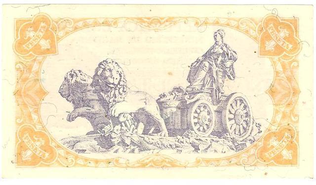 billetes de 1 peseta de 1937 Image