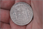 50 centavos 1885. Manila. 002