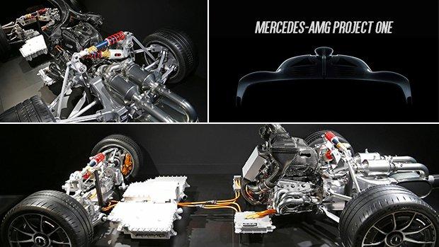 MERCEDES - PROJECT ONE - detalhes mecânicos Pj1