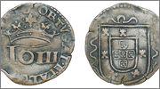 3 Reais. Portugal. Joao III el Piadoso 1521 - 1557 903