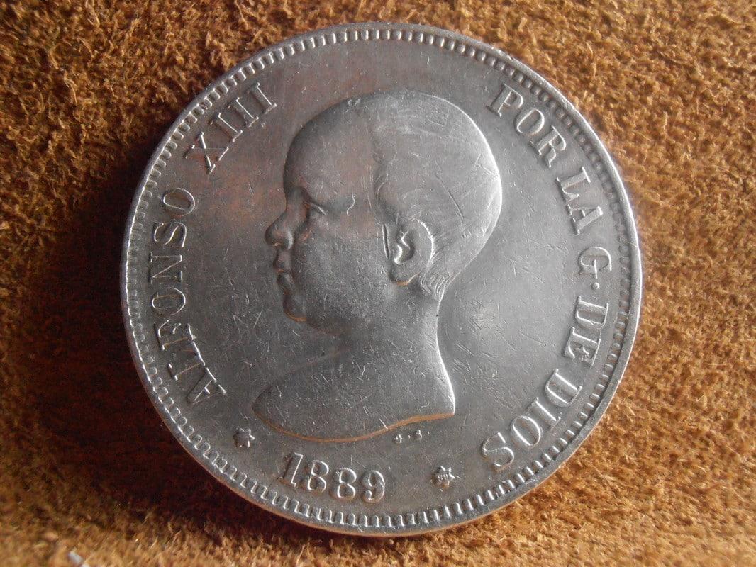 5 Pesetas 1889. Alfonso XIII P2280013
