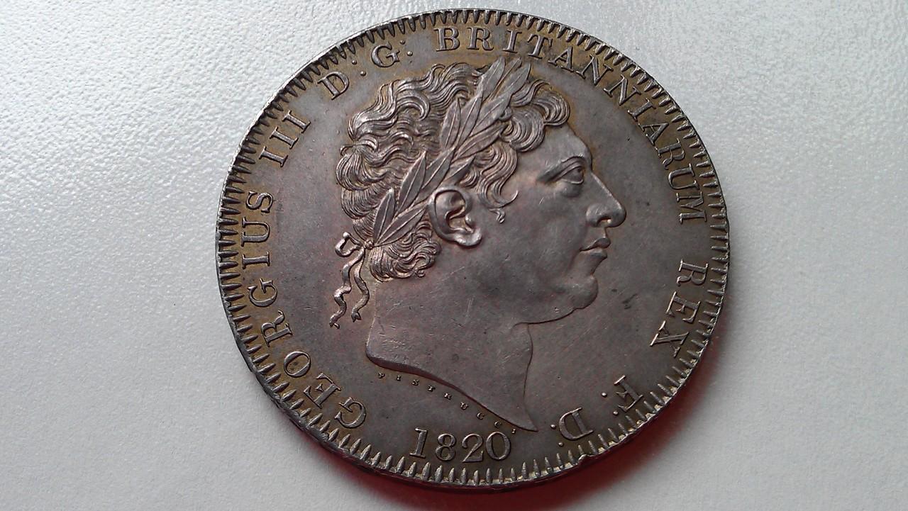 1 corona (crown) 1820  Georgius III   - Dedicada a mi amigo Emiliano IMAG1215