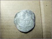 2 reales de Felipe II (c.1592-1598) ceca Sevilla B 001
