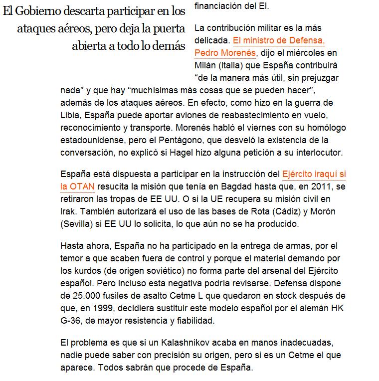 España baraja entregar 25.000 fusiles a los opositores al Estado Islámico Screenshot_242