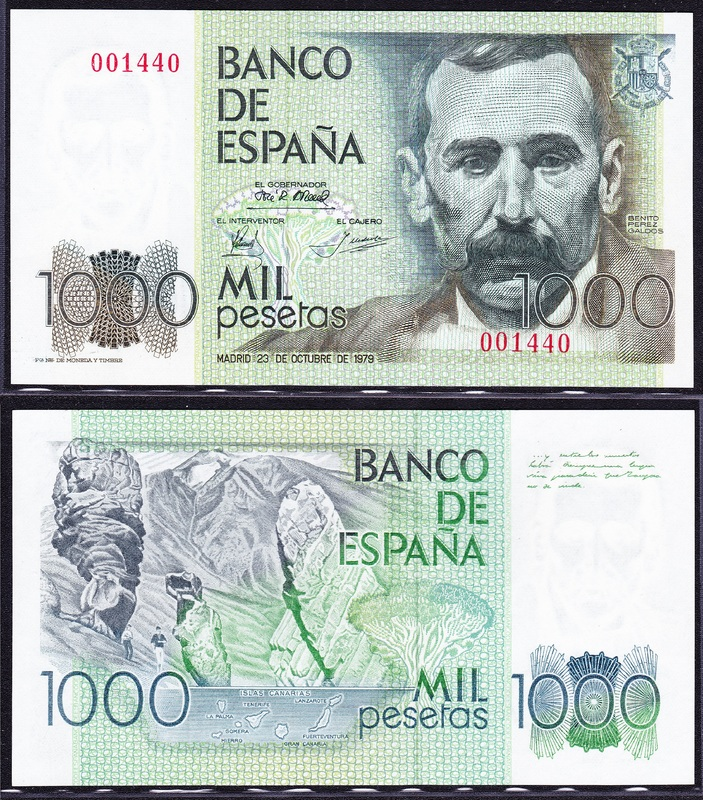 VI Concurso. Billetes y papel moneda 1979_1000_pesetas_n_m_bajo