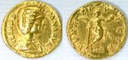Aureo de Julia Domna. VENERI VICTR. Venus estante a dcha. Ceca Roma. Au6