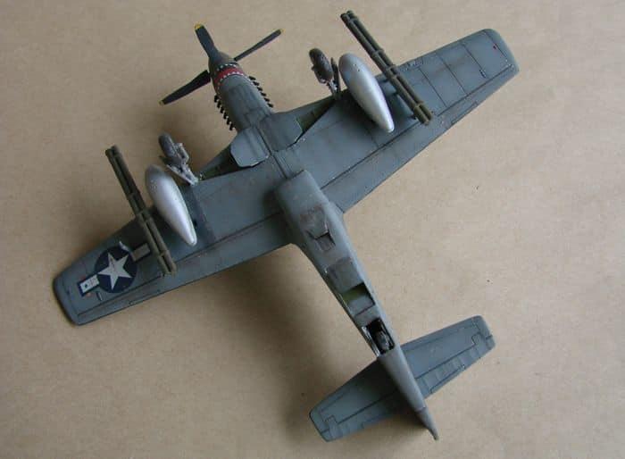 P-51 Mustang, Academy i P-51B Mustang (rebuild) Revell, 1/72 DSC02582