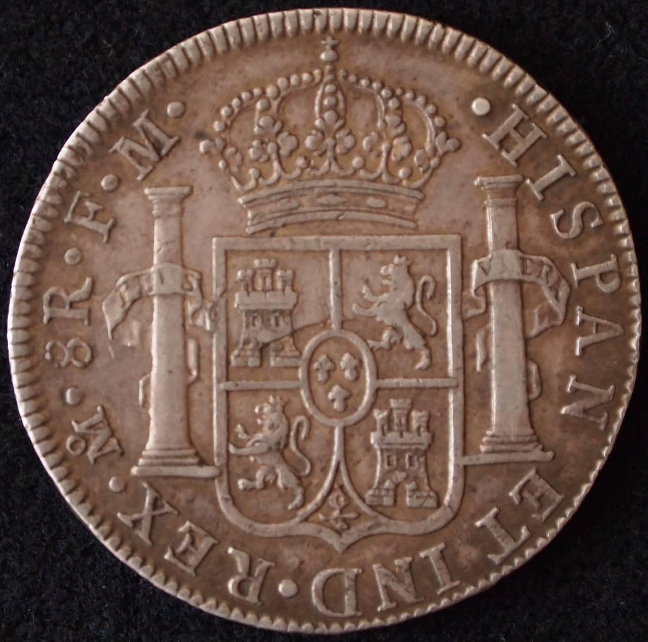 8 reales Carlos IV 1789 Mexico 2
