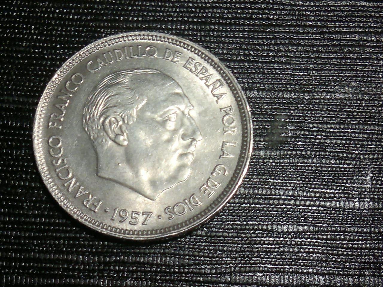 25 pesetas 1957 Estado Español 2014_01_28_2643