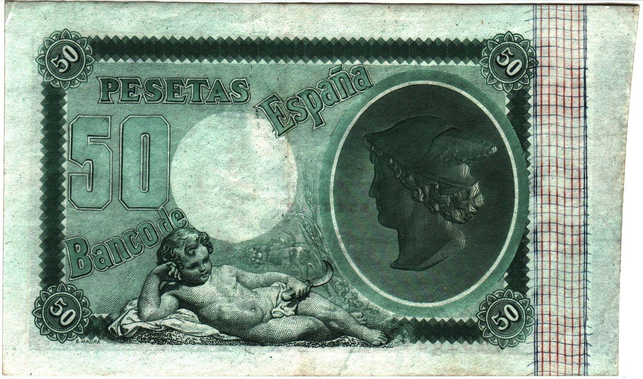 50 Pesetas 1893 Spain_P43b