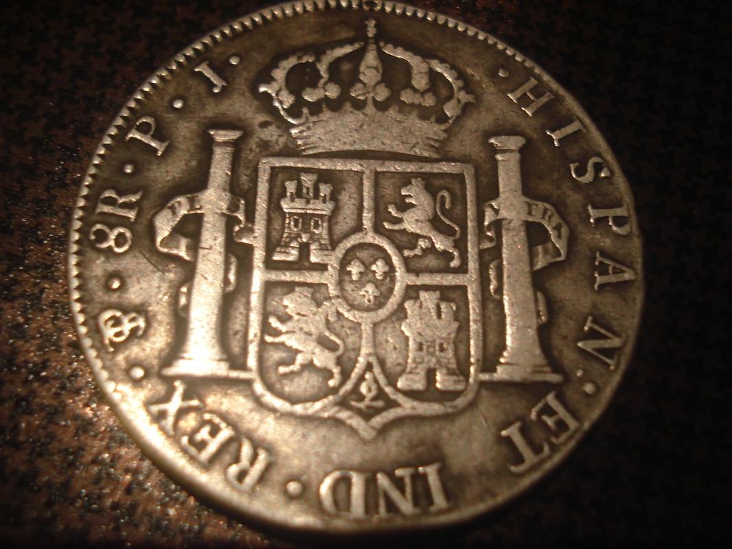 8 reales 1805. Carlos IV. Potosí Monedas_8_reales_005