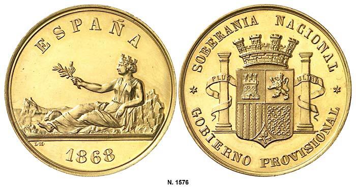 Medalla 1868, BIENVENIDA PESETA II (Dedicado al Marqués) Image