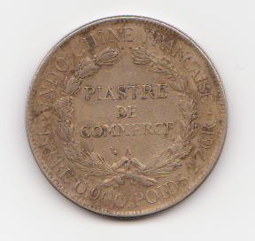 1 Piastra Indochina Francesa, (1770) duda Indochina_1770_001