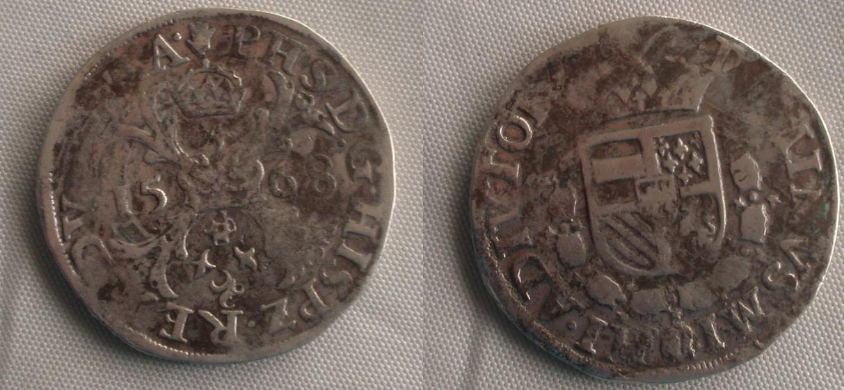 Escudo de Felipe II  0_patacon_felipe_ii