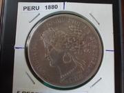 5 Pesetas de 1.880 , Perú DSCN1420
