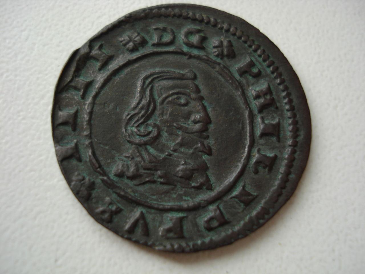 16 maravedís de Felipe IV, 1662, Granada. Monedas_011
