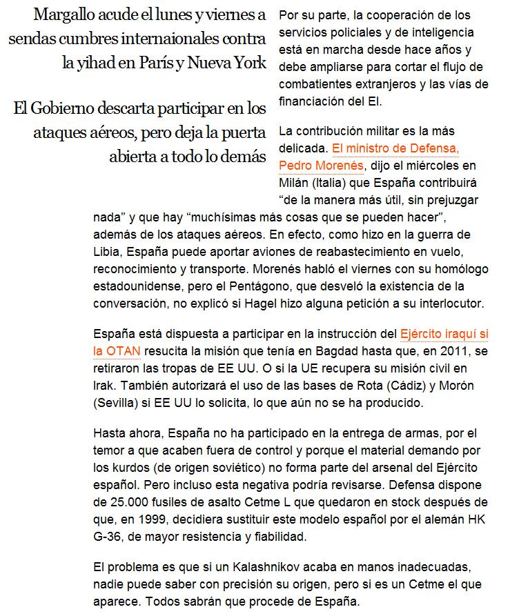 España baraja entregar 25.000 fusiles a los opositores al Estado Islámico Screenshot_243