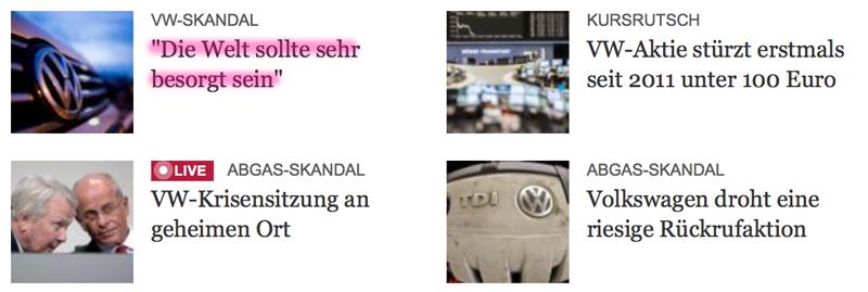 VW-Skandal Besorgt