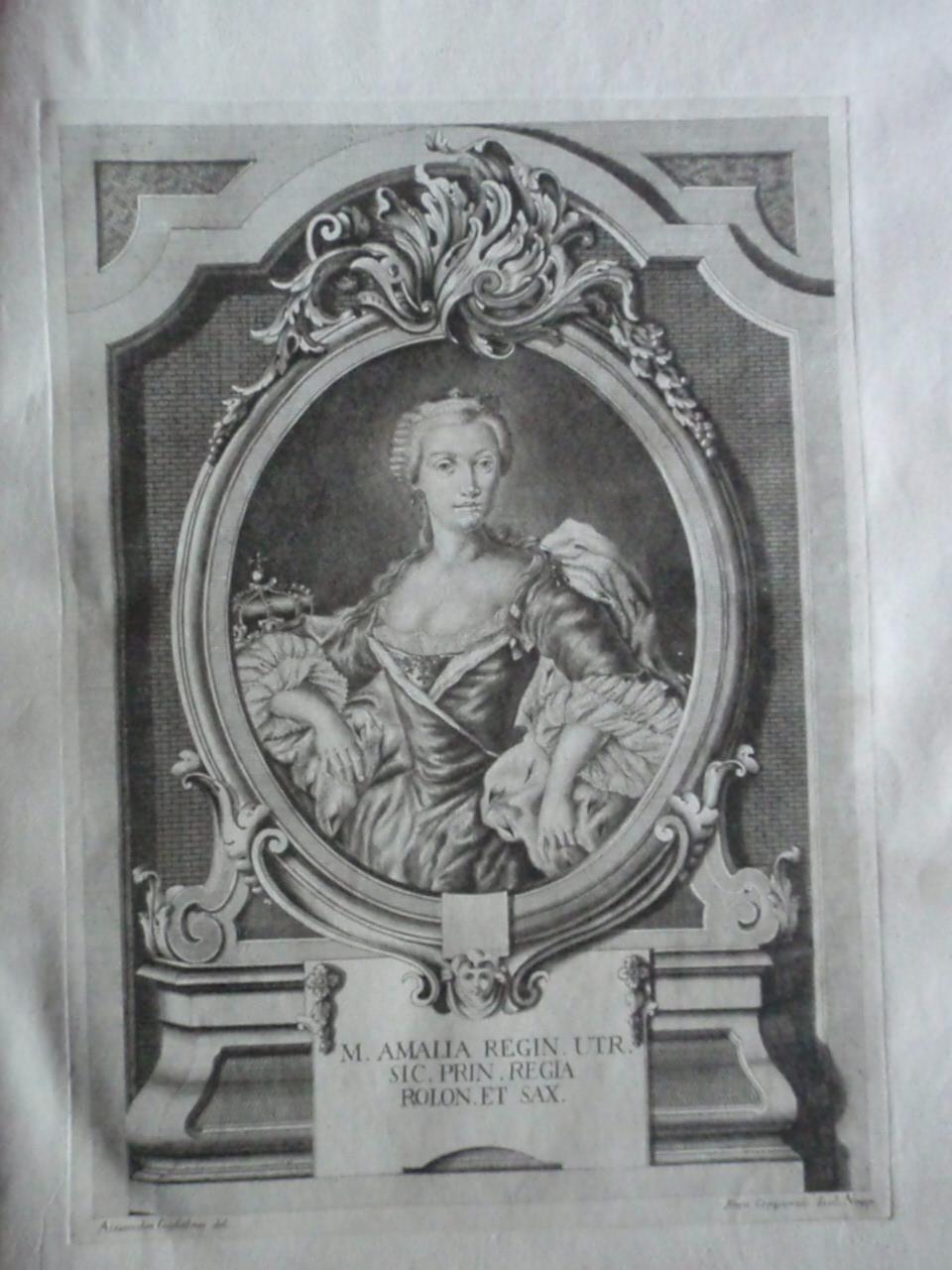 Estampa Antigüedades de Sicilia a la ateción del Marqués de la Ensenada, Estampareina