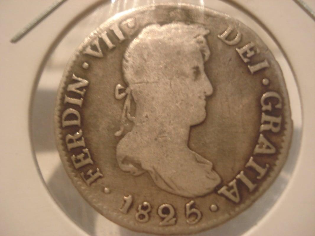 2 reales 1825. Fernando VII. Potosí Otras_009