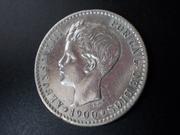 50 céntimos 1900. Alfonso XIII. Con propina DSCN1470