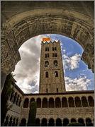 1 Peseta Ripoll, 1937 Torre_y_claustro_monasterio_santa_maria_de_ripol