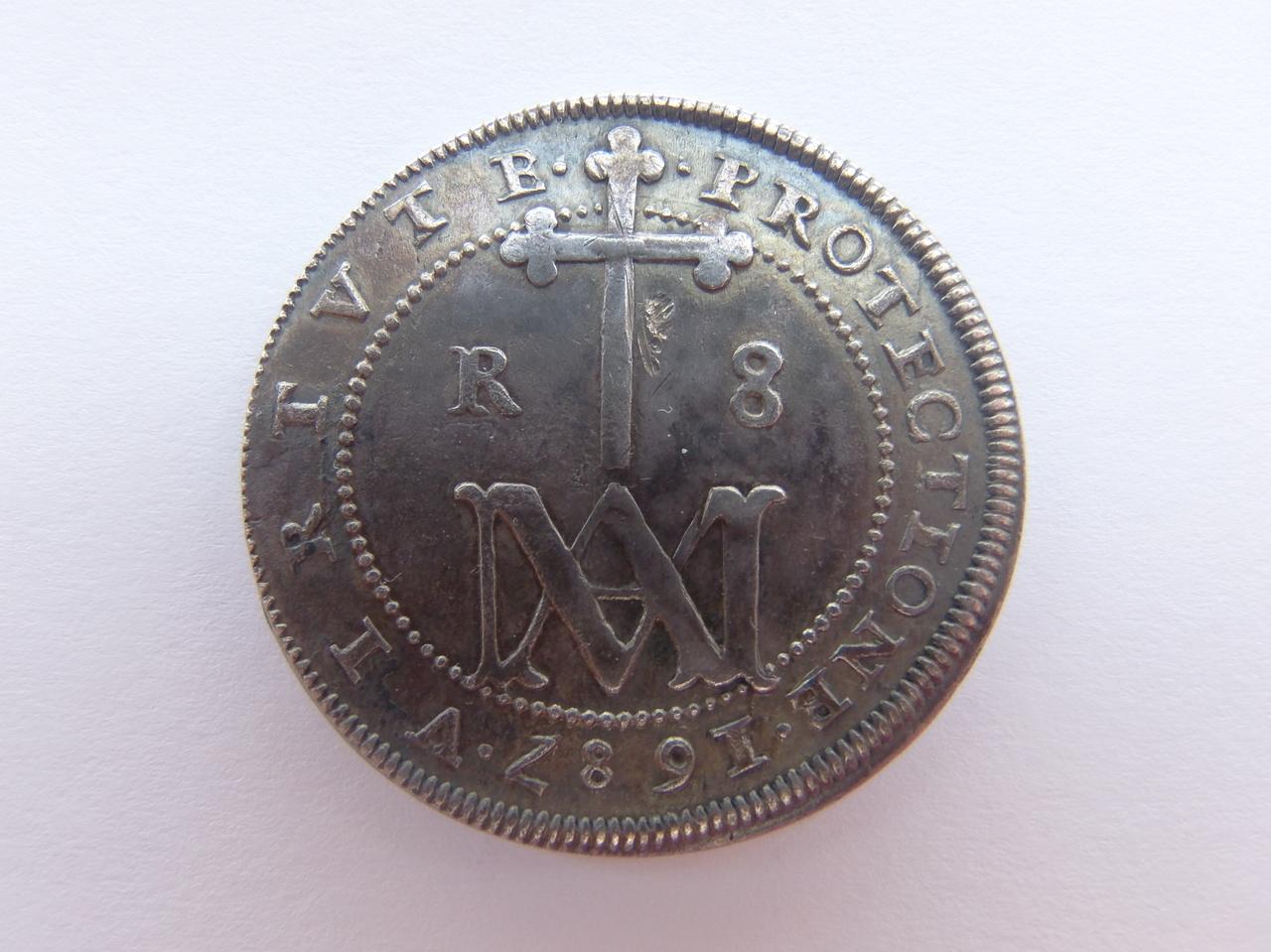 "8 Reales 1687 ""MARIA"" P5250940"