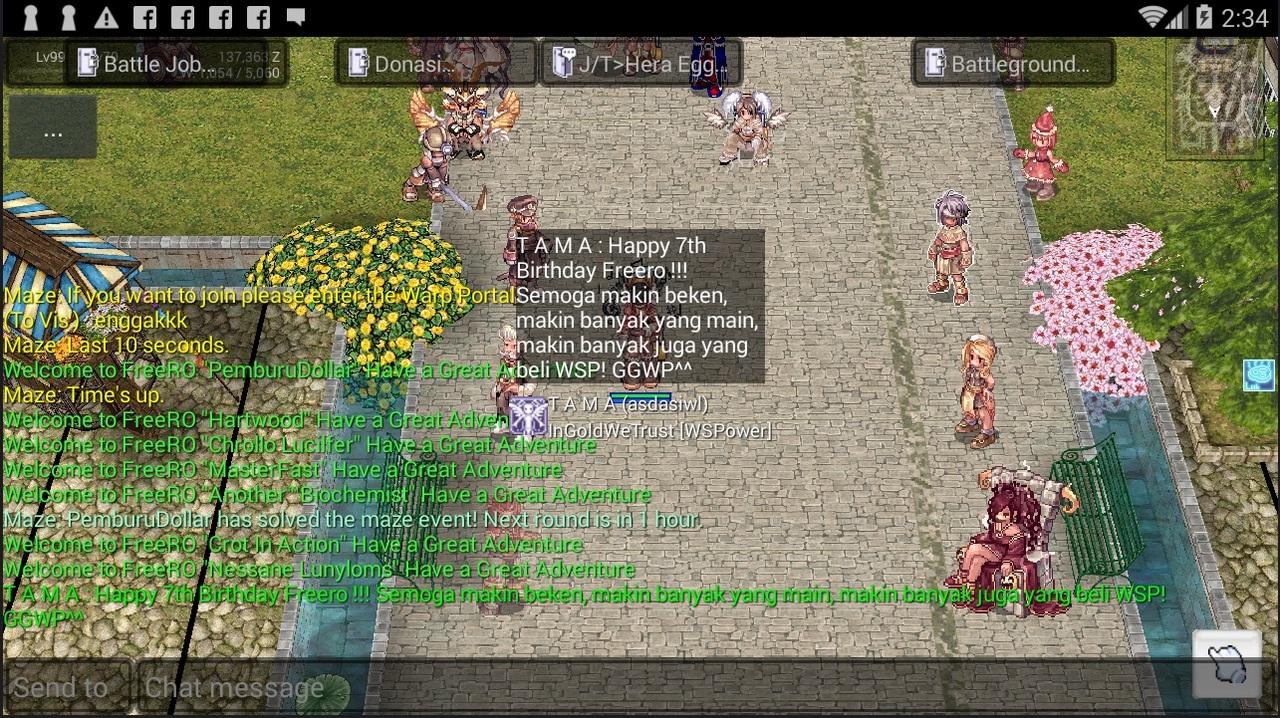 Event Screenshot Game FreeRO (Android) Freero