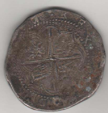 Plata de Felipe II para identificar. Moneda_2