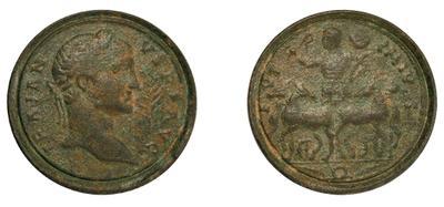 Contorniato o medallón de Trajano REGNA ADSIGNATA / S C. Falsificación. 1571902_m