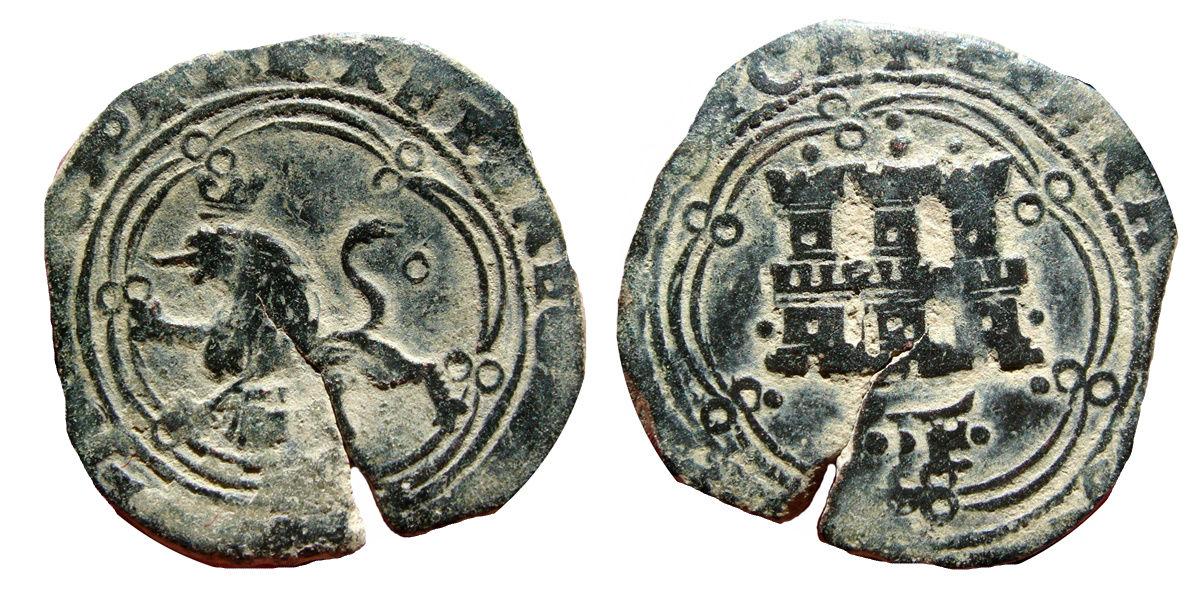 4 Maravedis Juana y Carlos a nombre de los RR.CC. Ceca La Coruña 268