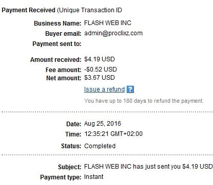 2º Pago de Proclixz ( $4,19 ) Proclixzpayment