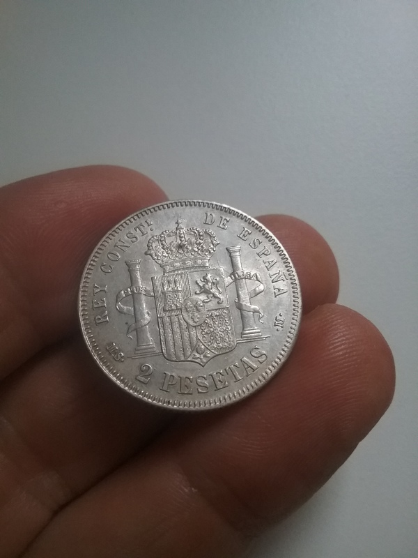 2 pesetas 1881. Alfonso XII 1493490496057-291197396