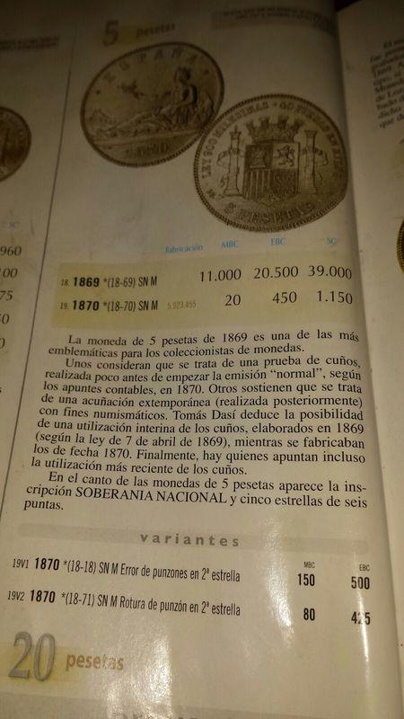 5 pesetas 1870 (18-71) Opinión IMG-20160409-WA0016