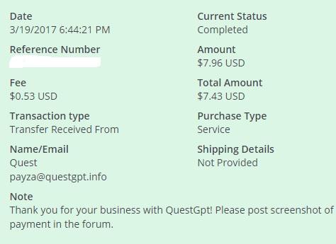3º Pago de QuestGpt ( $7,96 )   Questgptpayment