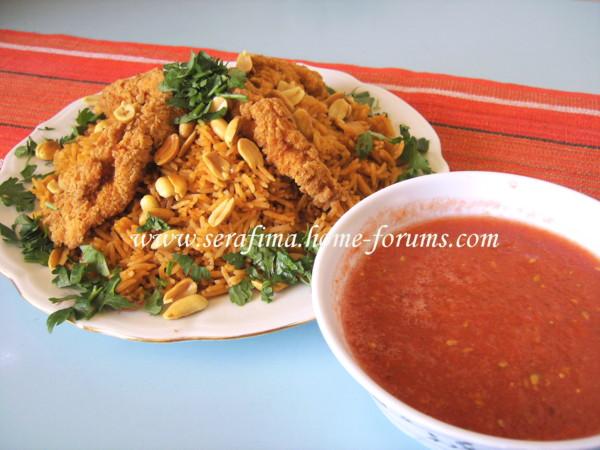 Кабсе (кабса). Красный прянный рис с курицей. Арабская кухня A74260cdc3f3