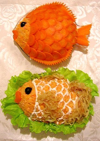 Идеи украшения салатов C61e7a894217