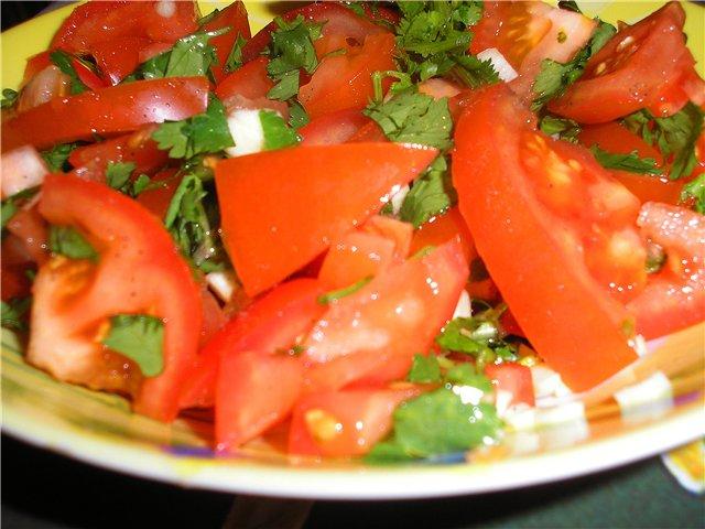 Салат из помидоров с кинзой A240c011e5e7