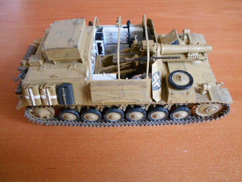 Немецкое 150-мм самоходное орудие Штурмпанцер II 1/35 (Арк модел) Aaa574c76b9f