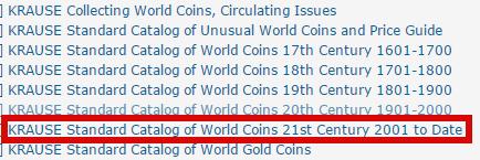 Collecion Catalogos World Coins 2010... 2016 64608b43a496