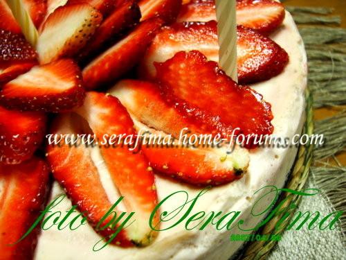 Чиз-кейк ванильный с клубничным соусом 857d4bc7d10e