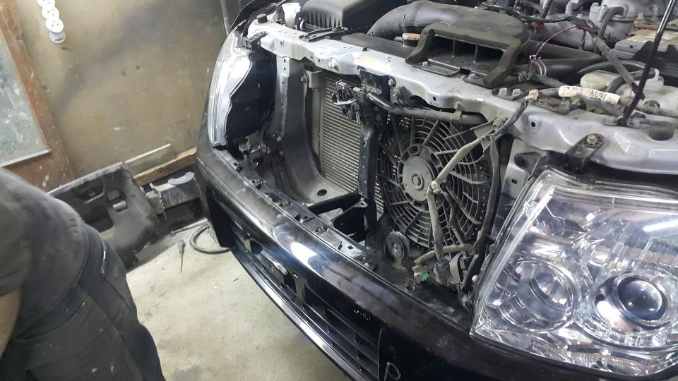 Ремонт Pajero 4 2012 рестайлинг после ДТП E28ffbaea2a6