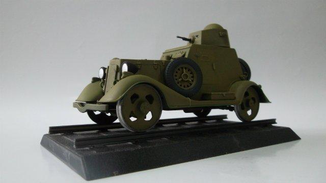 Бронеавтомобиль БА-20 Ж/Д, 1/35, (Старт). Fbf41e170d3b
