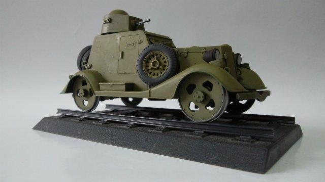 Бронеавтомобиль БА-20 Ж/Д, 1/35, (Старт). Cf738ee967e7