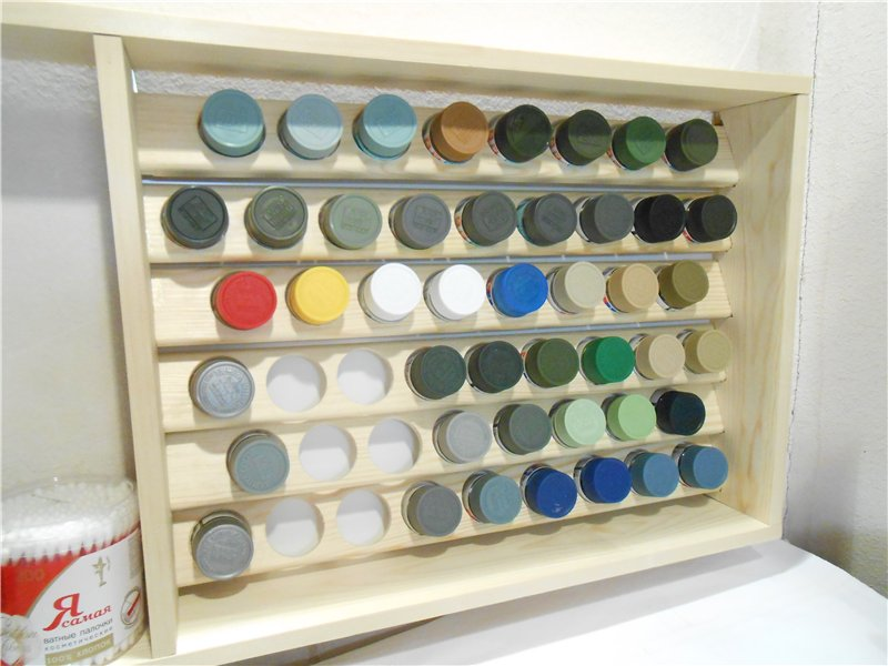 Полка-стеллаж для красок Тамия B4f137e3044c