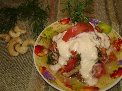 Помидорный салат  с кешью 058817ca588e