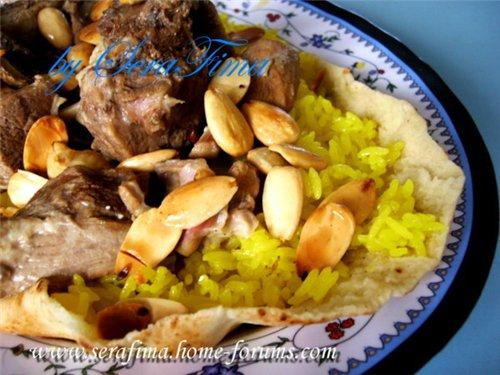 Мансеф - традиционный иорданский рис с бараниной и кефирной шорбой. Араб.кухня 100207cb58a4
