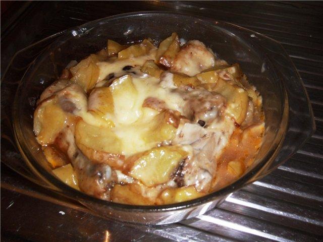 Куриная голень с яблоками 12c84b6c5408